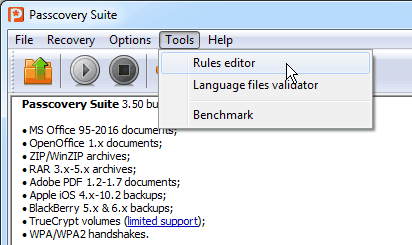 Open Rules Editor